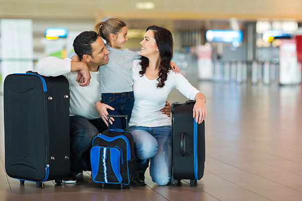 Family in airport tmp
